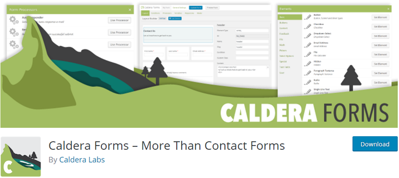 custom registration plugins for WordPress Caldera Forms