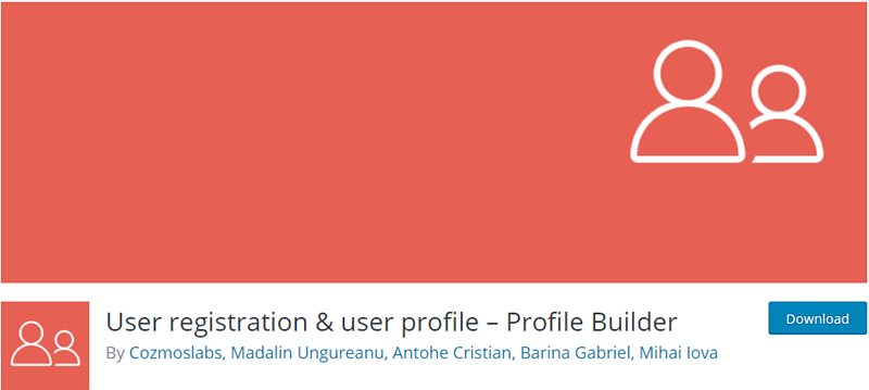custom registration plugins for WordPress Profile Builder