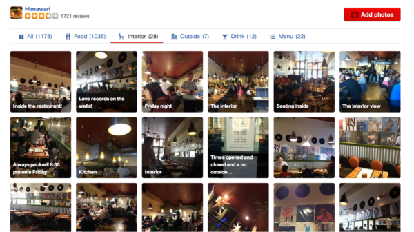Machine learning applications Yelp image categorization