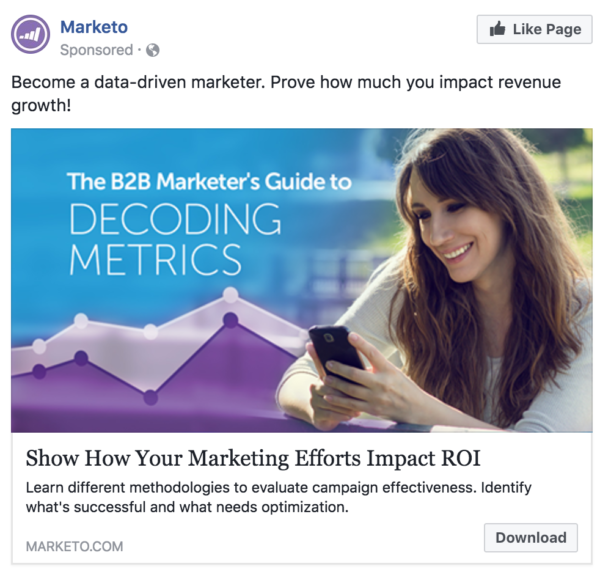 marketo facebook ads
