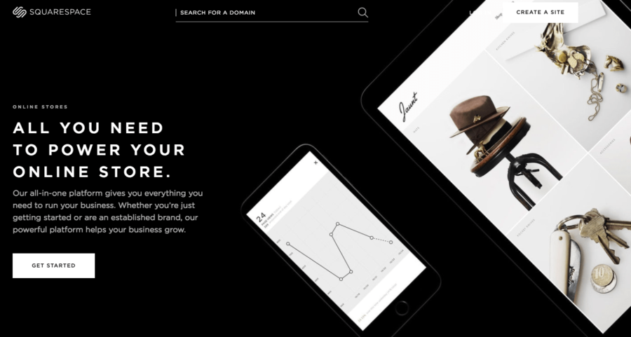 Squarespace focuses on beautiful design for e-commerce stores