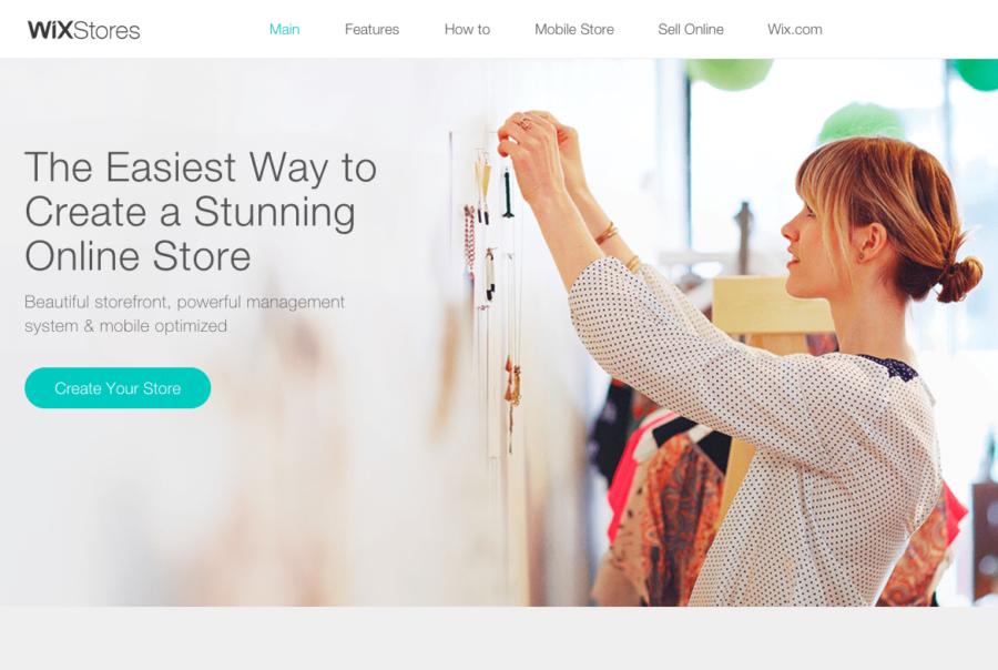 Wix makes it easy to develop an e-commerce store without any previous experience