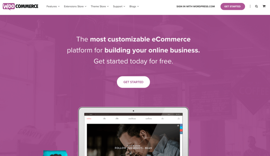 WooCommerce can be added to a WordPress site to transform it into an e-commerce platform