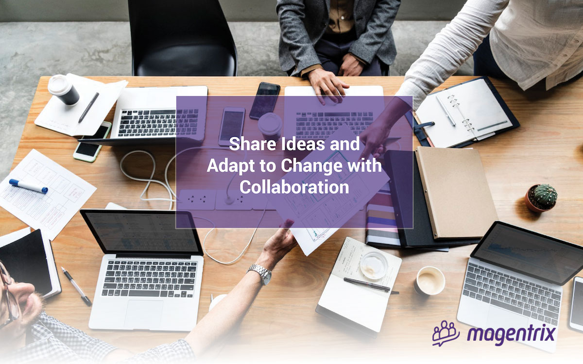 Share ideas and adapt to change with collaboration
