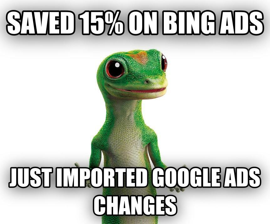 geico-save-money-bing-ads-scheduled-imports