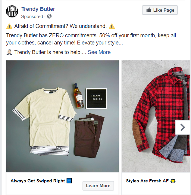 Trendy Butler runs a referral program, giving them paid owned earned media, all in one.