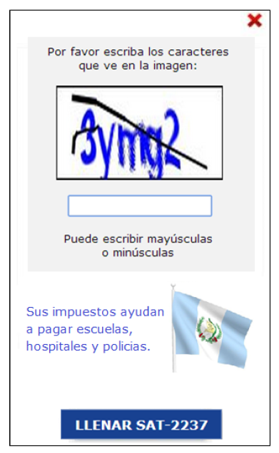 captcha message