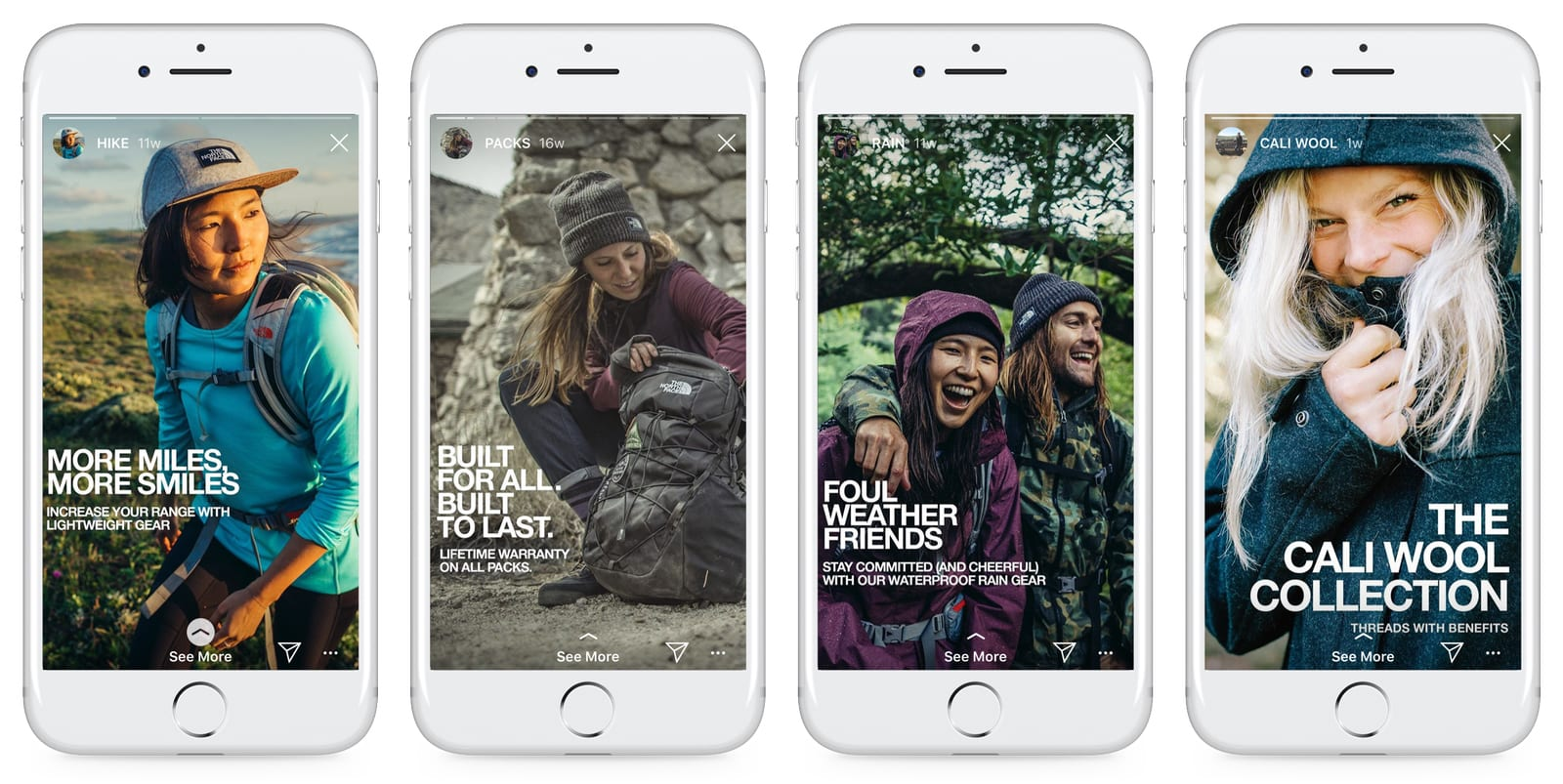 The North Face Instagram Stories Example