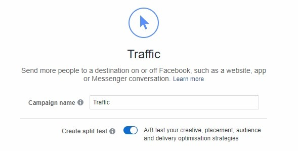 facebook split test tool