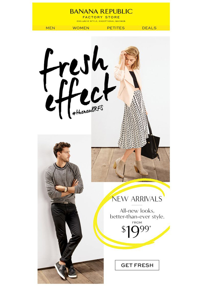 Banana Republic email CTA