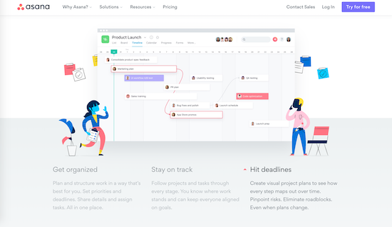 asana project management tools