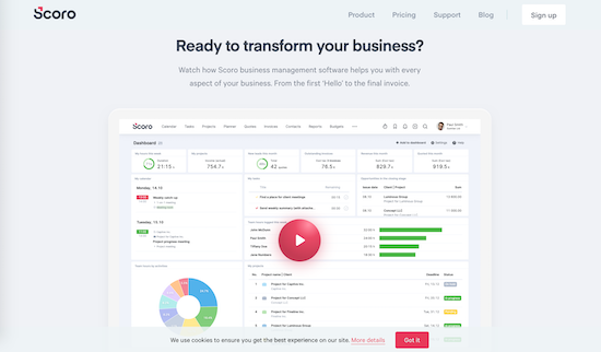 scoro project management tool