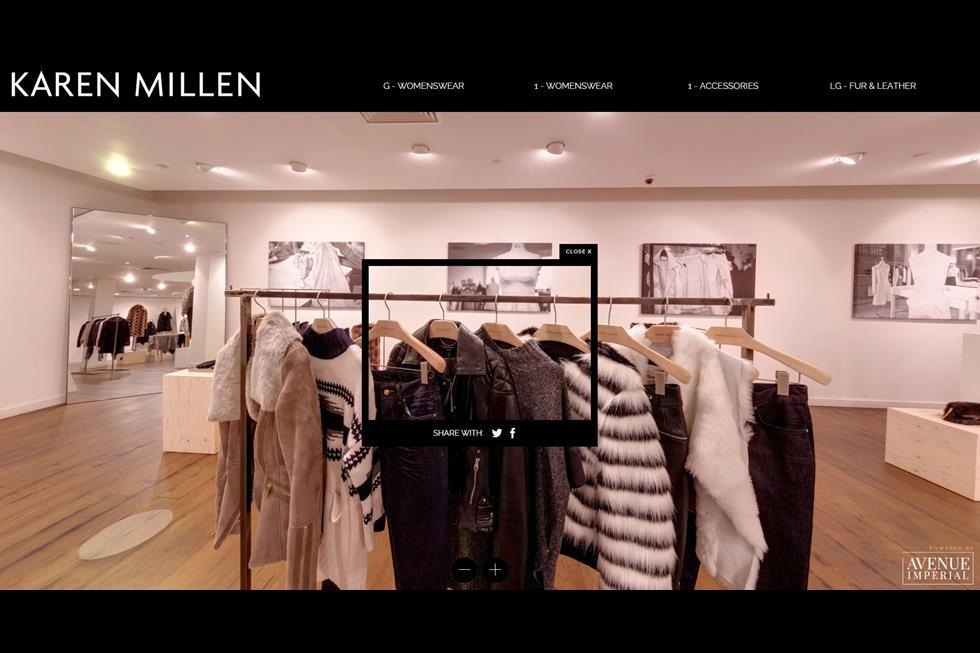 To give its customers a memorable shopping experience, British brand Karen Millen launched a temporary virtual version of its London store. Customers could roam the virtual rooms, zoom in and out of areas, see product descriptions and share snapshots of their selected products.